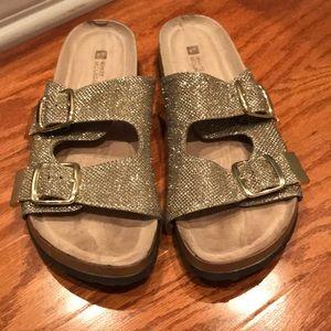 White mountain sparkly sandals